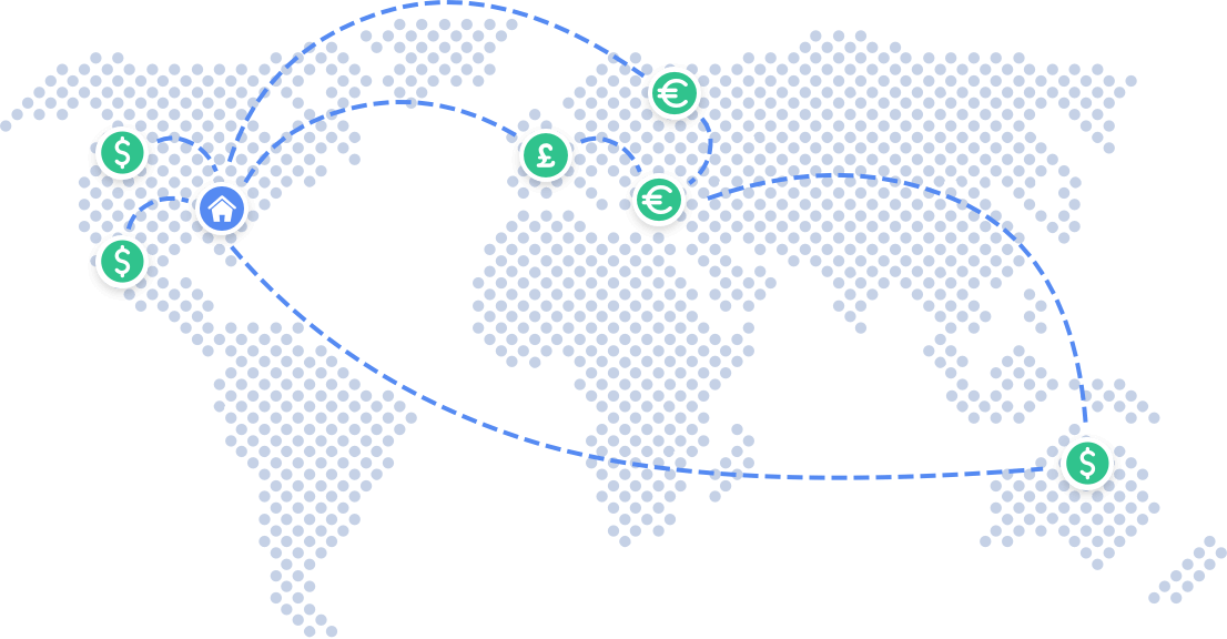Convenient international wire transfers